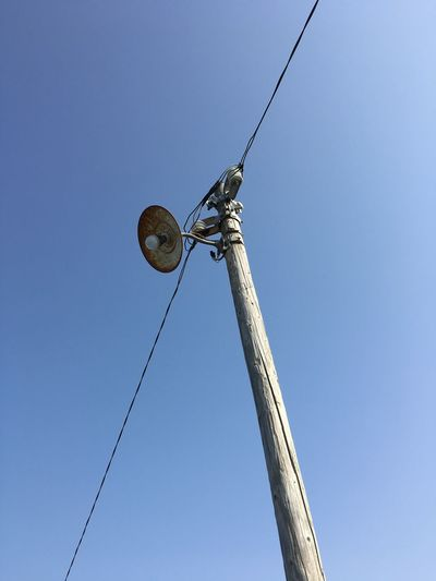 Streetlights Bare Lightbulb Low Angle View Sky Clear Sky Blue Nature Tall - High No People Day Outdoors Architecture Lighting Equipment Electricity  Built Structure