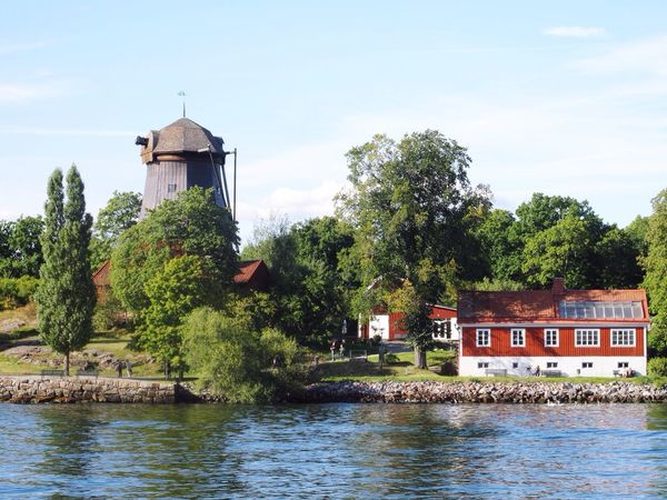 Blue Sky Holiday Urlaub Sweden Schweden Stockholm Travel Stockholm Archipelago Boat Trip Water Reflections Popular Photos Nice Weather
