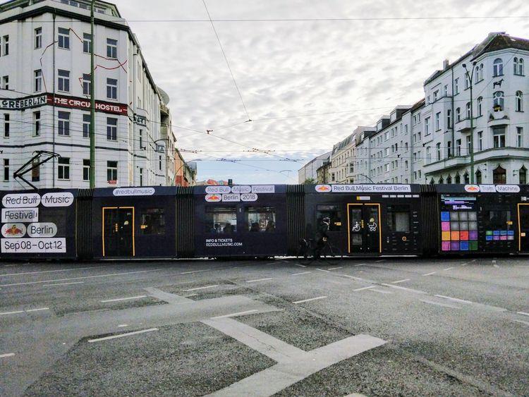 Tram Machines City Modern Architecture Building Exterior Sky Built Structure