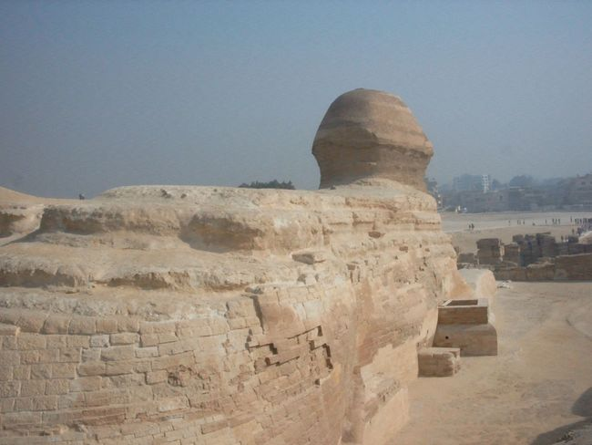 Backside of the Great Sphinx of Giza, 2002 2002 Ancient Ancient Civilization Archaeology Architecture Backside Portrait Building Exterior Built Structure Clear Sky Day Great Sphinx Of Giza History Nature No People Old Ruin Outdoors Sky Sphinx Statue The Past Tourism Tourist Attraction  Travel Travel Destinations Unusual Angles Of Landmarks