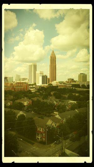Atlanta Skyline Shadyville Hotel City Cityscape Urban Skyline Modern Apartment Skyscraper Tree Downtown District City Life Business