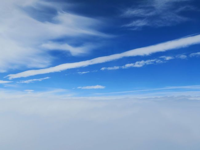 Sky Beauty In Nature Cloud - Sky Sky Only Backgrounds Blue Airplane Sky And Clouds Sky Collection Sky_collection Skyscape