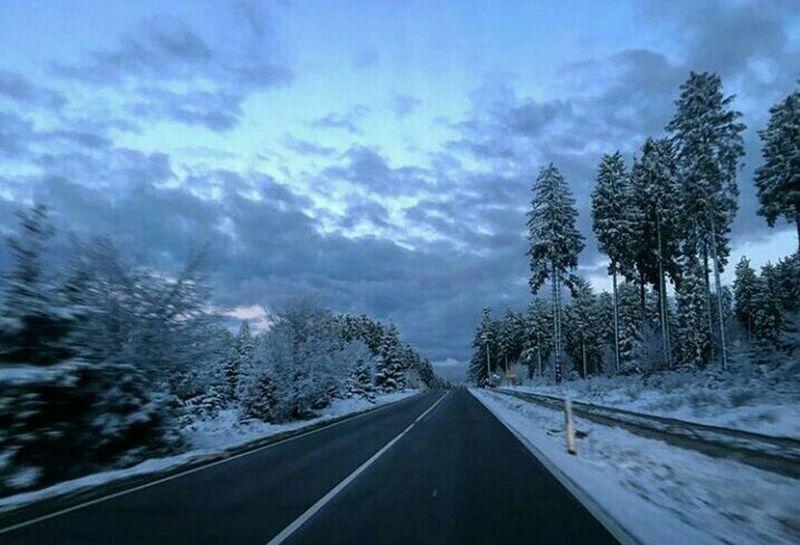 Snow Day ❄ Snow Winterwonderland Winter Wite Trees Traveling Roadtrip