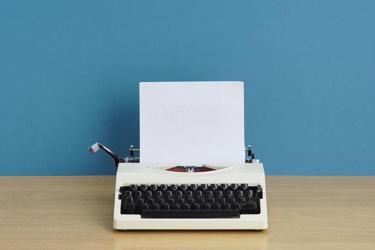 Typewriter on a