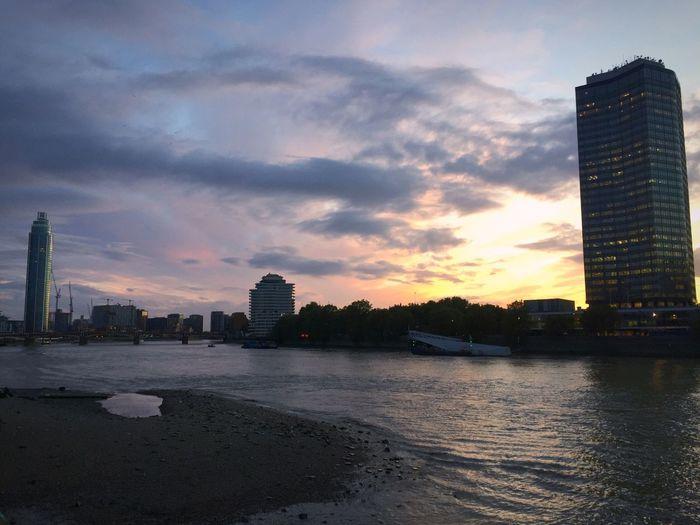 View from Lambeth Bridge The Thames The Tower Lambeth  Nine Elms Sunset London