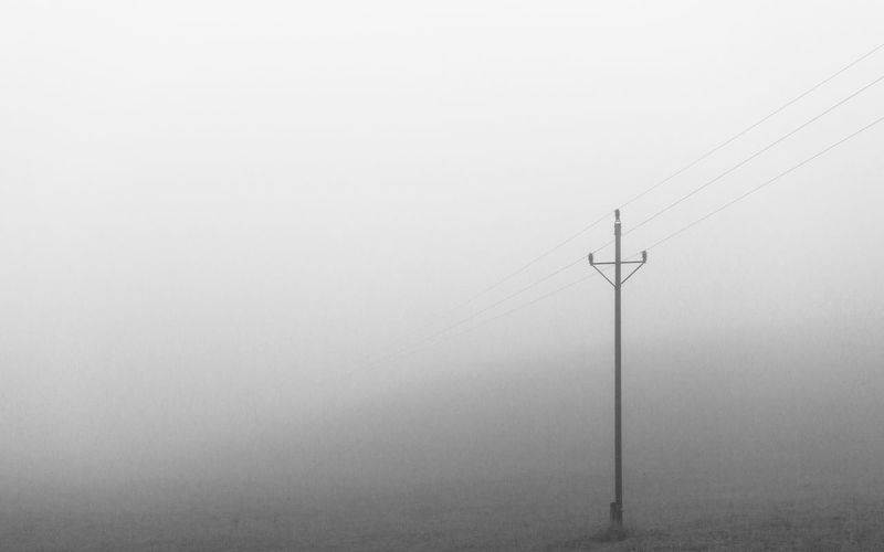 Fog hides everything Foggy Morning Fog Lines Lines And Shapes Blackandwhite Wheather Field Nature Landscape Mood