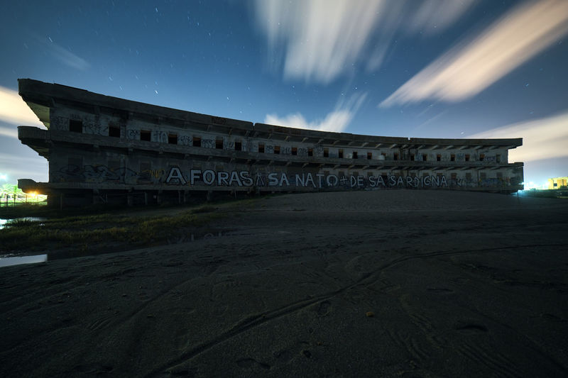 Il vecchio ospedale marino Sky Architecture Built Structure Building Exterior Night Nature No People Cloud - Sky Building Water History Dusk Long Exposure Outdoors Star - Space The Past Travel Destinations Abandoned Beach Abandoned Buildings Poetto Sardinia Sardegna Italy  Nightscape