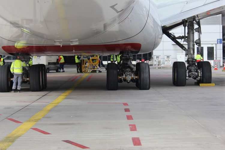 A 380 at the service Fraport A380 Close-up Service Runway Airport Travel Photography Traveling Airplane View Airplane Shot AirPlane ✈ Transportation Mode Of Transportation Airplane Air Vehicle Travel Airport Commercial Airplane Land Vehicle Truck Business Outdoors Airport Runway Day Occupation Sign Road Wheel People Industry