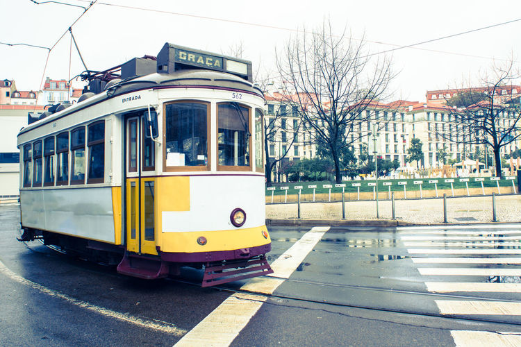 Tramway On Street In City