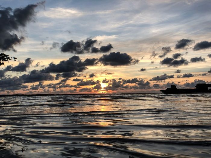 Water Sky Sea Cloud - Sky Beauty In Nature Sunset Scenics - Nature Tranquility Beach Tranquil Scene No People Idyllic Horizon Land Nature Orange Color Outdoors The Great Outdoors - 2018 EyeEm Awards