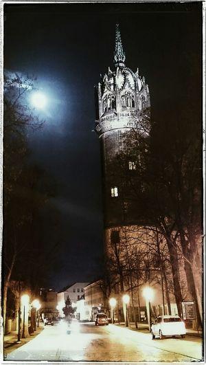 Die Schlosskirche in neuem Glanz Sightseeing Being A Tourist Citysights Nightphotography Wittenberg Lutherstadt