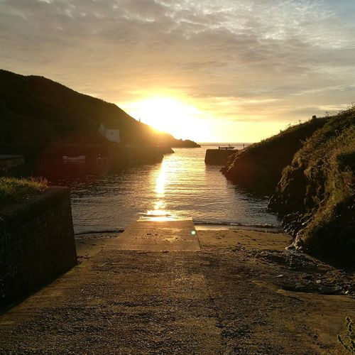 Sunset No People Sunlight Outdoors Cloud - Sky Nature Water Landscape Sky Beauty In Nature Day Travel Destinations harbour Wales