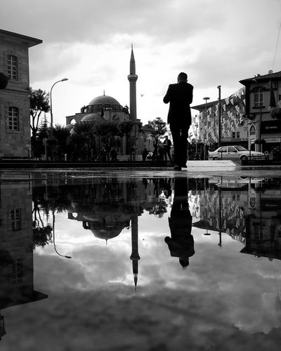 Yansıma.. Konya Konya Turkey Turkey Reflection Reflections In The Water Reflection Photography Politics And Government City Water Statue Symmetry Puddle Reflection Sky Architecture Cloud - Sky Reflecting Pool City Gate Memorial Historic Standing Water War Memorial First Eyeem Photo