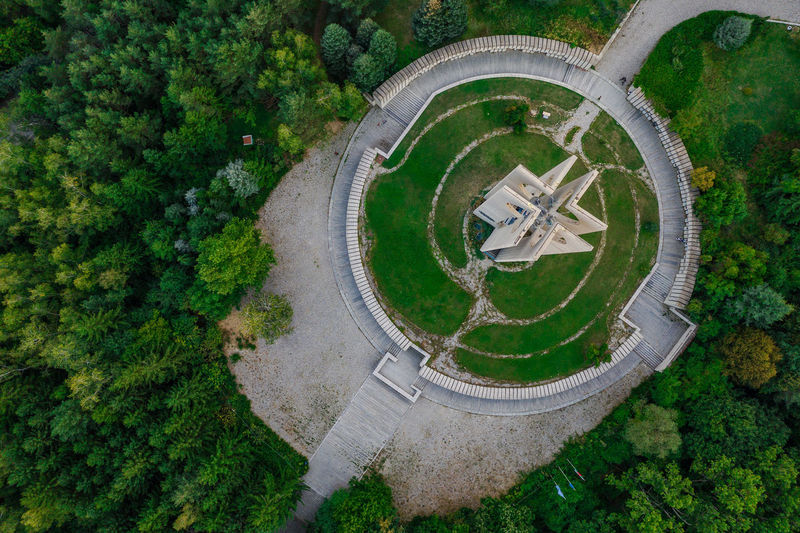 Fly high! Aerial View Architecture Beauty In Nature Circle Concrete Day Djimavic2pro Drone Photography Droneshot Geometric Shape Grass Green Color Growth High Angle View Land Landscape Mavic Nature No People Ornamental Garden Outdoors Plant Scenics - Nature Shape Tree