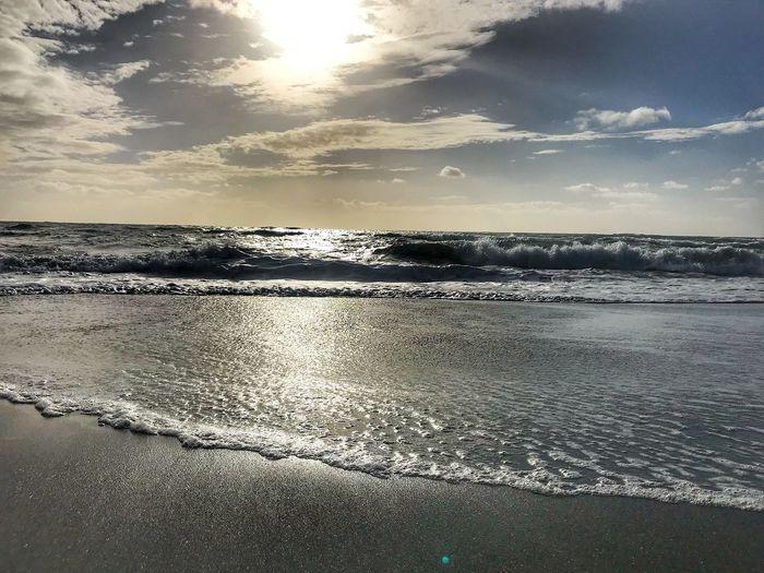 Beach with long