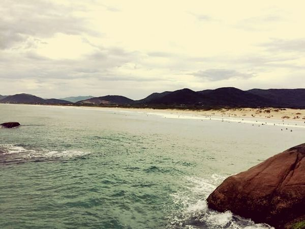 Scenics Water Sea Mountain Mountain Range Outdoors Beach Horizon Over Water Tranquility Florianópolis - SC Nature Beauty In Nature Coastline Landscape Cloud - Sky Beauty In Nature Day No People