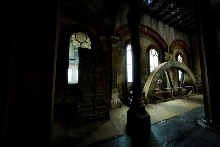 Crossness Pumping Station Architecture Indoors  Built Structure Arch Building Old No People