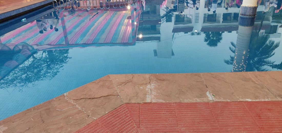 Water Swimming Pool Luxury Hotel Reflection