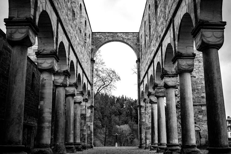 Paulinzella Abbey Ruins Abbey Abbey Ruins Cathedral Ruinded Building Ruins Thuringia Lost Places Lostplaces Sacred Black And White Friday