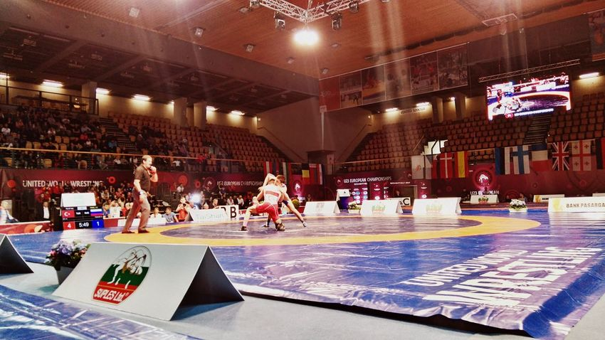 Made by Sony Xperia M4 Aqua Arena Savaria European Championship  Fight Indoors  Match Opening People Sport Szombathely U23 Win Wrestler Wrestlers Wrestling Wrestling Tournament