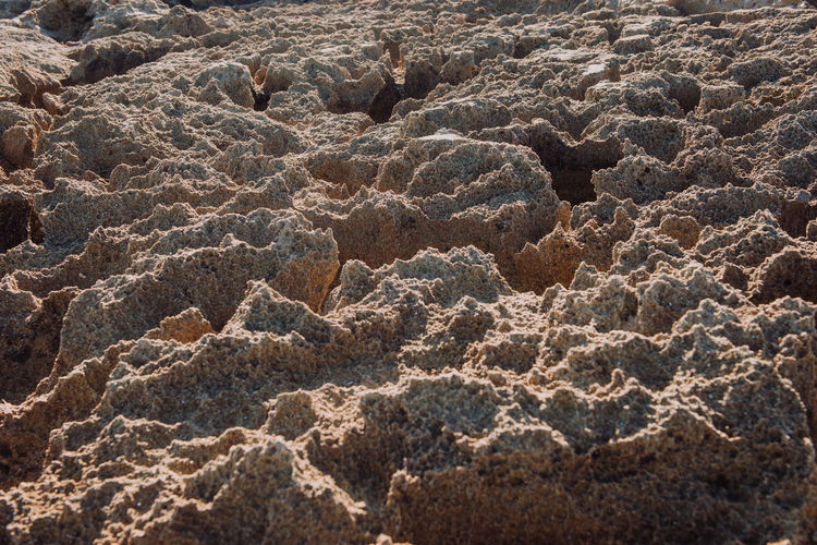 Close-up of sand dune in desert