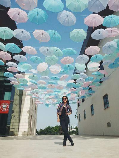 Senlik Bahar şemsiyeler Renkli