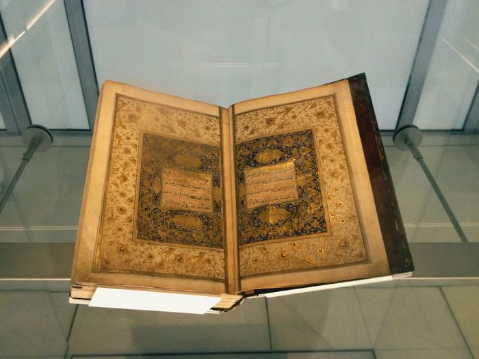 Very old Quran! Beauty! Getting Inspired Coran Quran Exhibition Learning Caligraphy Arabic OkFaiza ça suffira lol.
