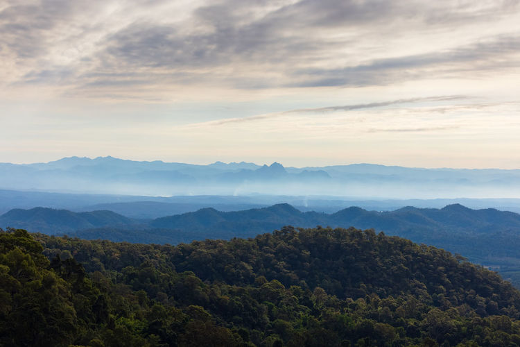 Beautiful over the mountain range at the west of thailand