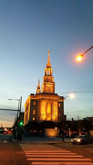 Architecture Night Sky Travel Destinations Sunset Illuminated Built Structure Building Exterior Tower No People Church Church Exterior Place Of Worship