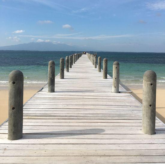 Cadiz Done That. Good Morning Philippines! Bollards And Pier Filipino Beauty Lakawon Island Pier To Horizon Seaview