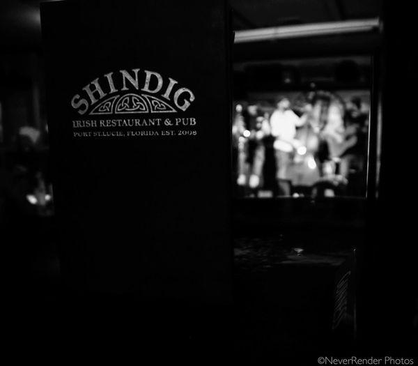 A band called Killbillies at a local pub. Blackandwhite Pub Shindig
