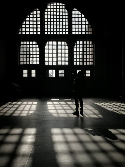 Full Length Of Man Photographing In Hagia Sophia