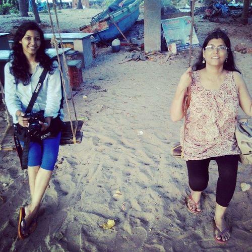 Swinging by the beach Roadtrip Beach Tarkarli MomandI PeaceandQuiet Bliss