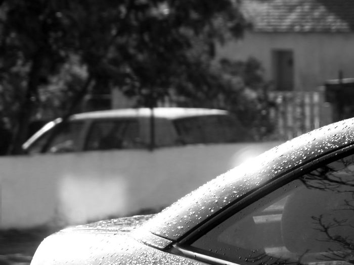 Opel Astra Coupe Bertone Tm EyeEm Select - Plus BnW Real BnW Black And White Car White Halo Luminosity Water Droplets Wall Focus On Foreground Cars Photography
