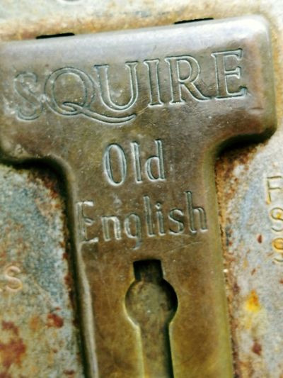Lock Letters Communication Text Metal Close-up Rusty Deterioration Engraved Image