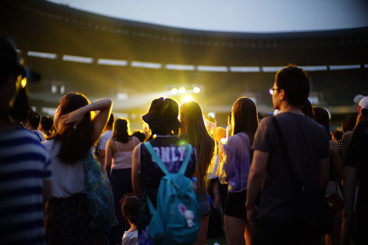 Group of people at concert