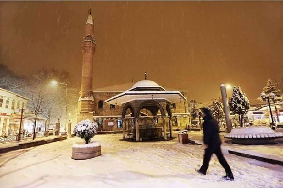 Musque Winter Snow Cold Temperature Travel Destinations Arts Culture And Entertainment Architecture Night People Outdoors City Adult Human Body Part Snowing One Person Adults Only One Man Only Ice Rink Only Men