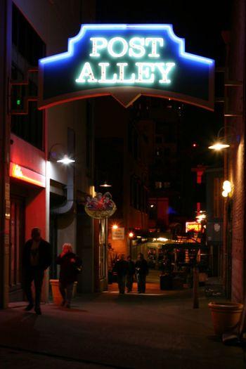 Night Illuminated Neon Text Outdoors Communication Architecture City People City Life Seattle Neighborhood Map