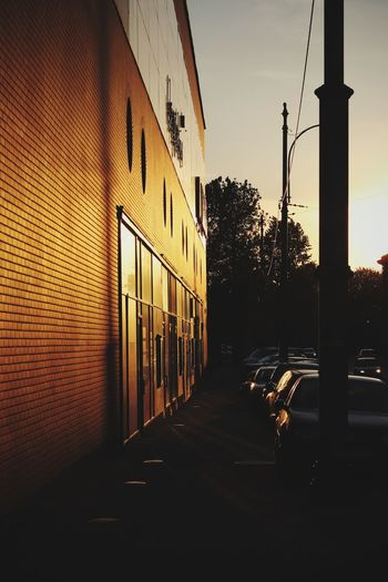 golden hour City wall Streetphotography Wall Gold Sunset Sunrise Katowice City Sky Architecture Office Building Building Building Exterior Urban Scene Exterior