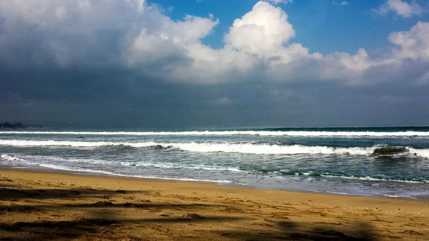 Beach Beauty In Nature Cloud - Sky Day Horizon Over Water Nature No People Outdoors Sand Scenics Sea Shore Sky Tranquil Scene Tranquility Water Wave Bali Kuta Beach