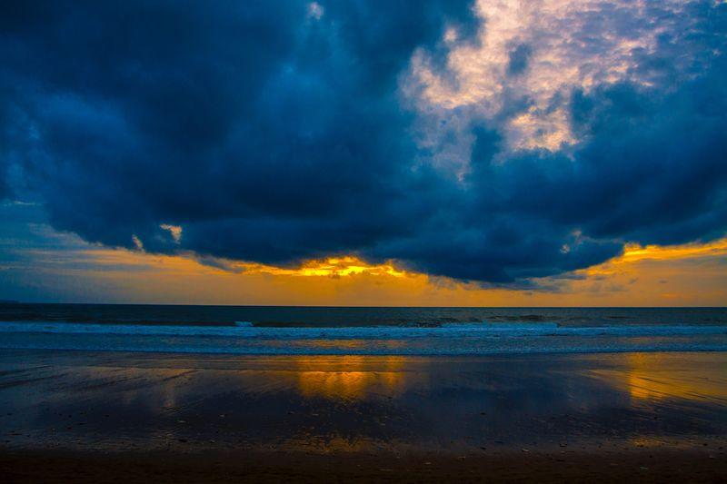 Sunset Water Sea Sky Cloud - Sky Scenics - Nature Beauty In Nature Beach Land Horizon Over Water Dramatic Sky Nature Sunset Blue First Eyeem Photo
