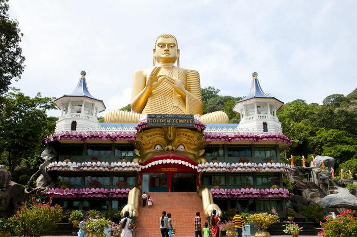 Dambulla Cave Temple - Sri Lanka Buddha Buddhist Sri Lanka Built Structure Dambulla Dambulla Cave Temple Religion Statue Temple