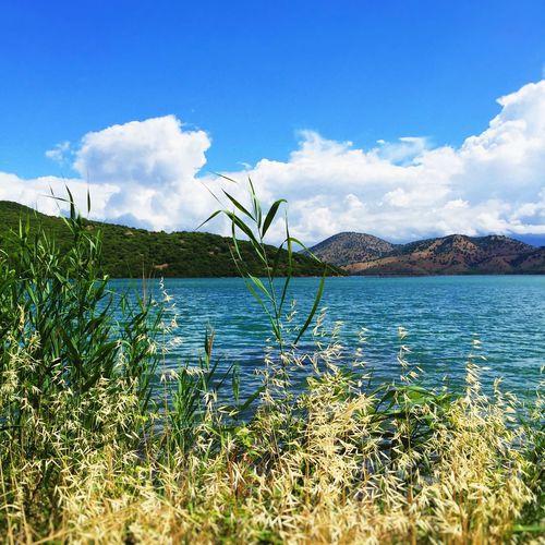 Butrint Lake Lake View Sea Mountains Albania Blue Sky Grass Balkans IPSScenery IPS2015Water