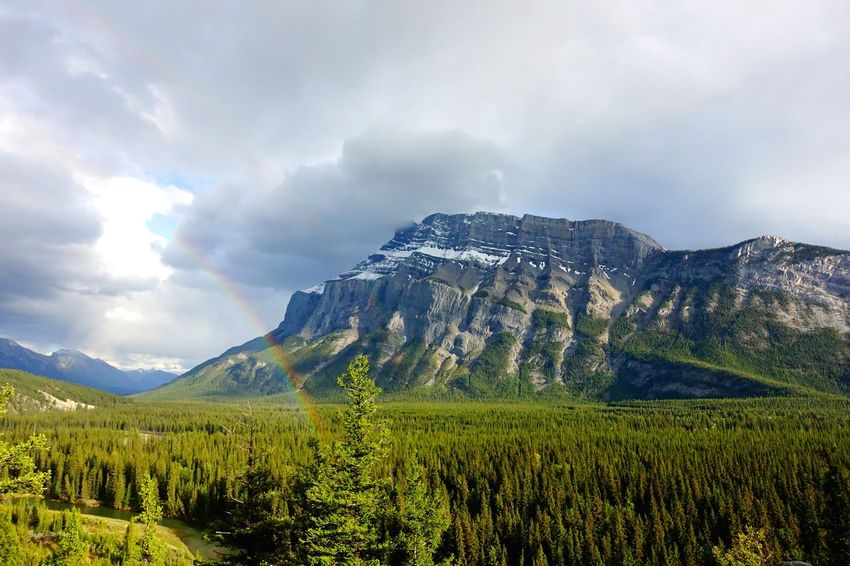 Banff  Alberta Canada Road Tripping Abventure Exploring Travel Landscape Wild After Rain Rainbow Mountain Nature Forest