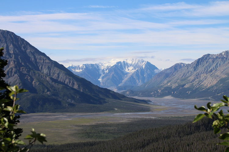 Slims River valley looking south from Sheep mountain with the Kasakawulsh glacier in the distance. Sheep Mountain Slims River Yukon Kluane Landscape Mountain No People