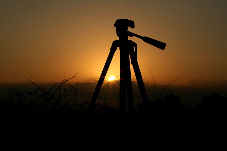 Nature No People Outdoors Passion Silhouette Sky Sunset Tripod Photography 10