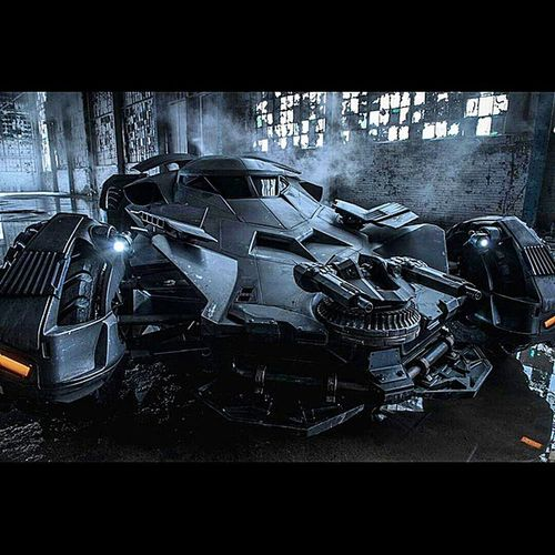 For Those Of You Who Haven't Seen It Yet... Here's The Dark Knights NEW Batmobile . It Looks Like Bale's Tumbler, But On More PED's... BatmanVSupermanDawnOfJustice ZackSnyder Visionary