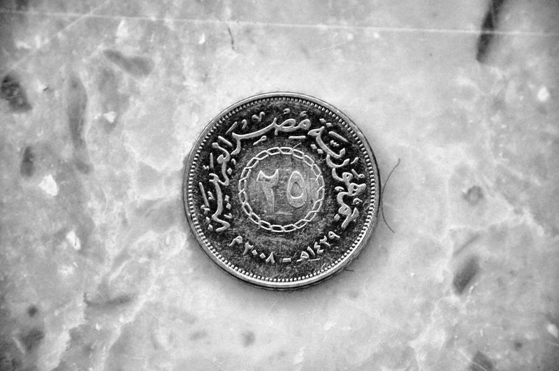 #25 #economy #Egypt_Republic #money #Quarters Close-up Coin Metal