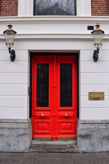 Building Exterior Door Closed Built Structure Architecture Red Security Outdoors Entrance No People Protection Front Door Day Security System