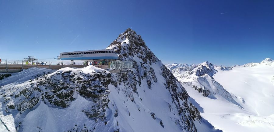 Snow Mountain Winter Beauty In Nature Clouds Sky Ski über Den Wolken Soelden Tiefenbach Gletscher Nature